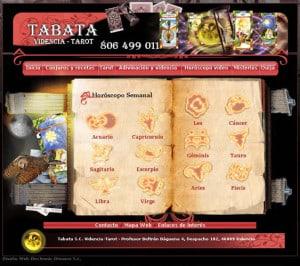 web de tarot