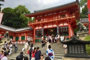 personas visitando japon